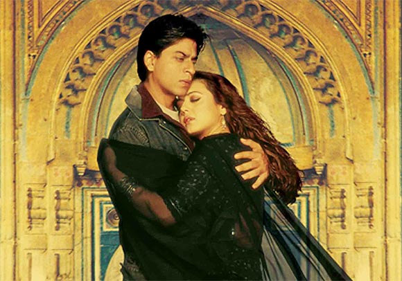 Shah Rukh Khan and Preity Zinta in Veer Zara