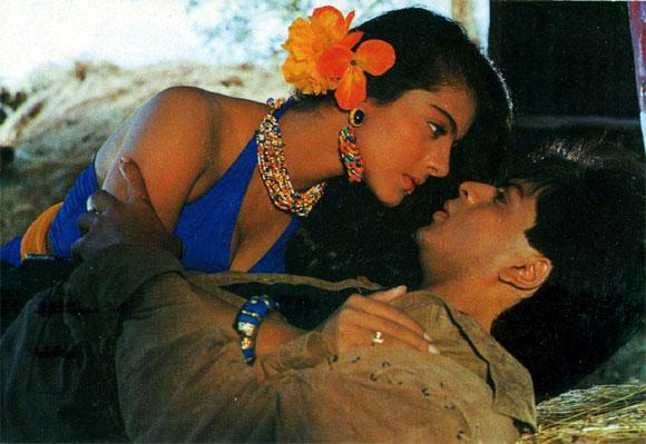 Kajol and Shah Rukh Khan Karan Arjun