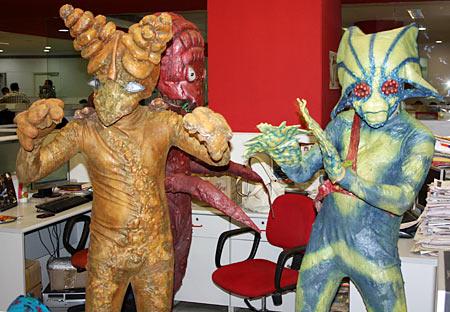 The aliens from Joker take over Rediff office