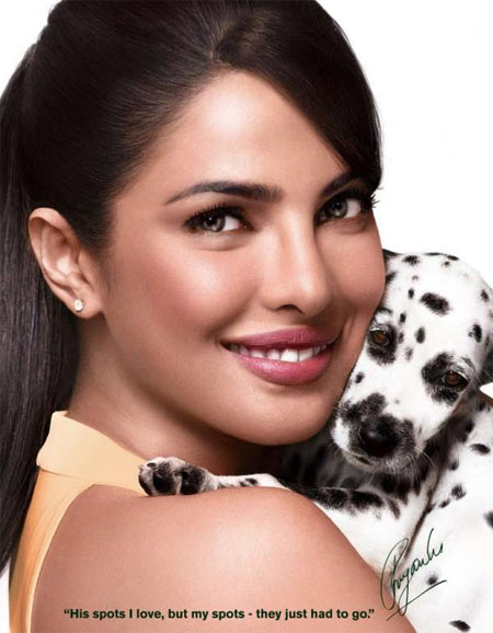 Priyanka Chopra in the Garnier ad