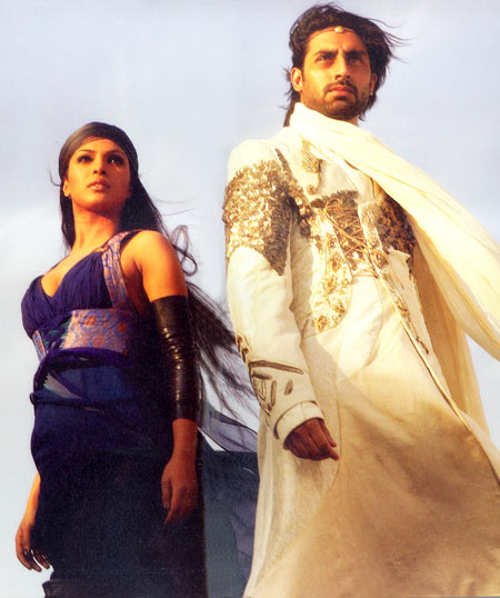 Priyanka Chopra with Abhishek Bachchan in Drona