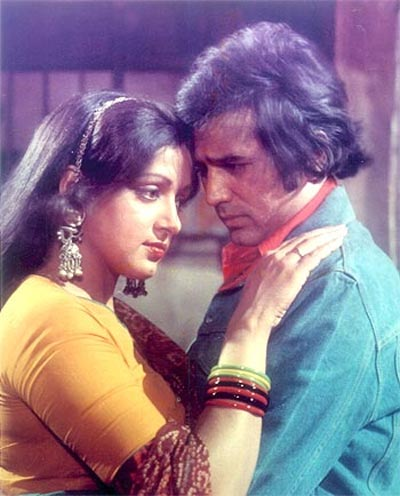 Hema Malini and Rajesh Khanna