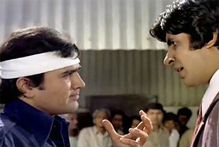 Rajesh Khanna and Amitabh Bachchan in Namak Haram