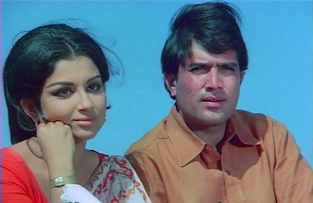 Sharmila Tagore and Rajesh Khanna in Safar