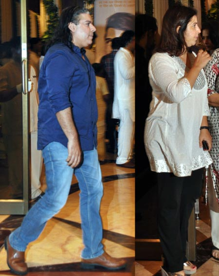 Sajid and Farah Khan