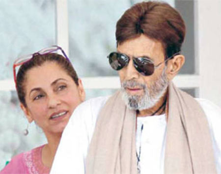 Rajesh Khanna and Dimple Kapadia shortly before his death