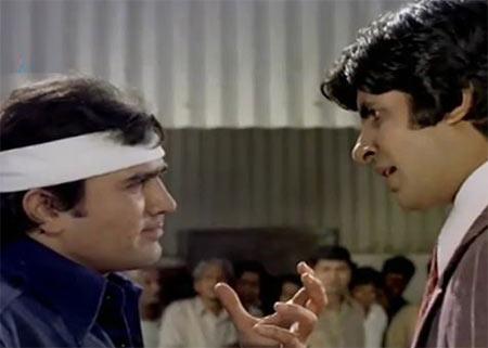 Rajesh Khanna and Amitabh Bachchan in Namak Haram