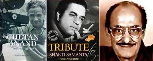 Chetan Anand, Shakti Samanta and Nassir Hussain