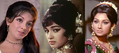 Zaheera, Asha Parekh and Sharmila Tagore