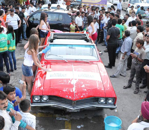 The promotional car wash