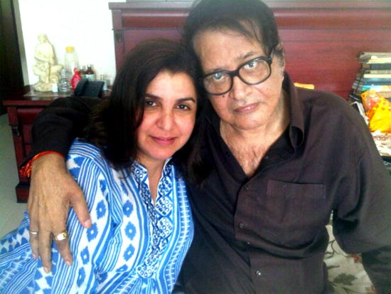 Farah Khan and Manoj Kumar