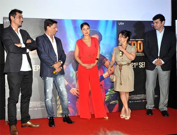 Arjun Kapoor, Madhur Bhandarkar, Kareena Kapoor, Divya Dutta and Siddharth Roy Kapoor