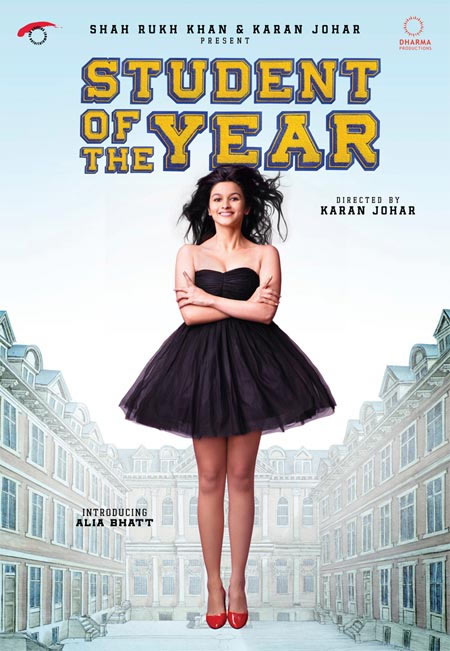 Alia Bhatt on the movie poster of Student Of The Year