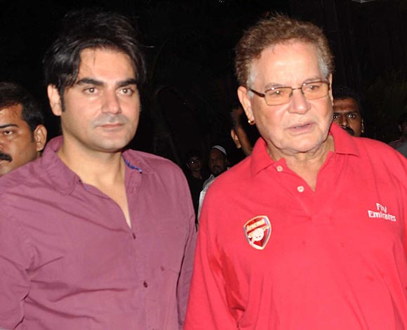 Arbaaz Khan and Salim Khan