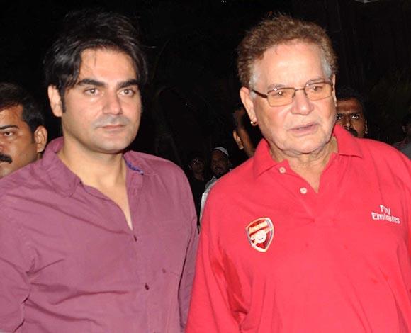 Arbaaz Khan and Salim Khan