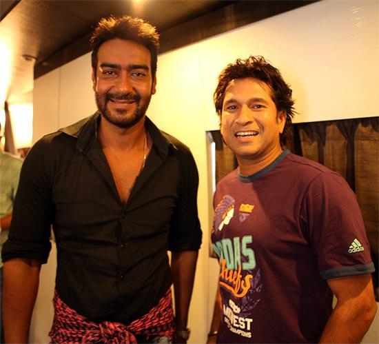 Ajay Devgn and Sachin Tendulkar