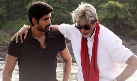 Rana Dagubatti and Amitabh Bachchan in Department