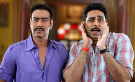 Ajay Devgn and Abhishek Bachchan in Bol Bachchan