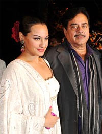 Sonakshi and Shatrughan Sinha