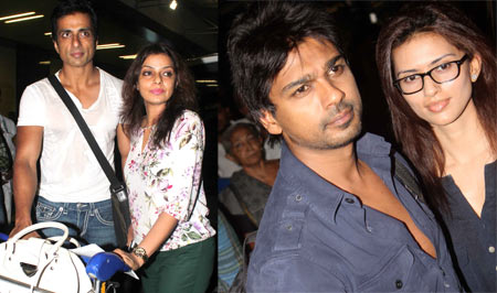 Sonu Sood, Nikhil Dwivedi and their wives