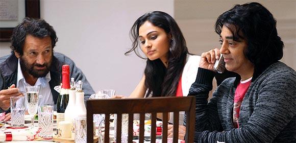 Shekhar Kapur, Andrea Jeremiah, Kamal Haasan in Vishwaroopam