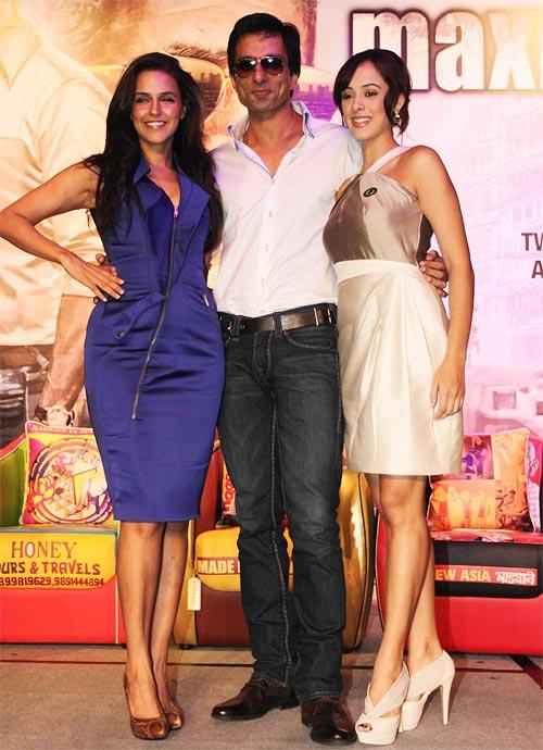 Neha Dhupia, Sonu Sood and Hazel Keech