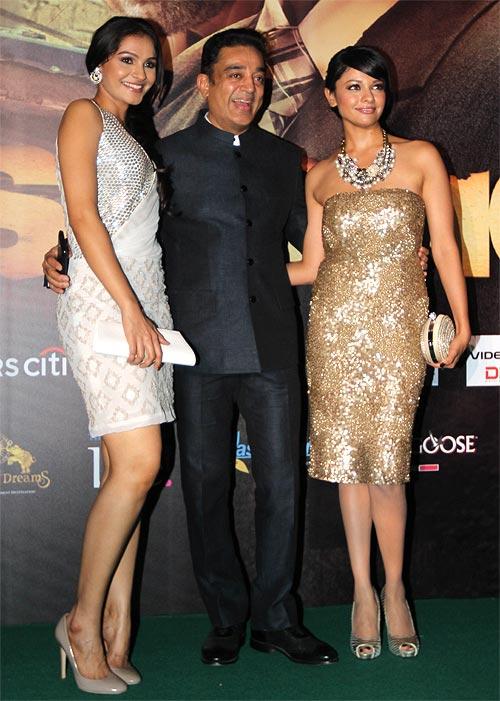 Andrea Geremiah, Kamal Haasan and Pooja Kumar