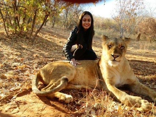 Lisa Haydon in Africa