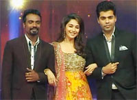 Remo, Madhuri Dixit and Karan Johar