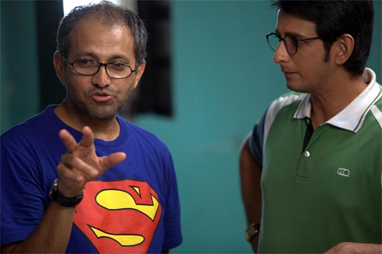Rajesh Mapuskar with Sharman Joshi