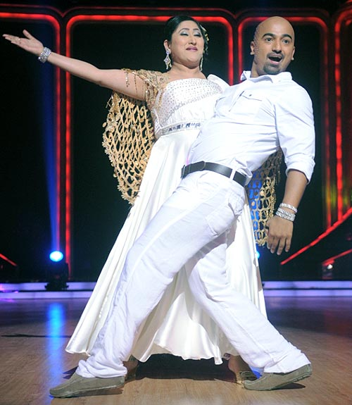 Jayati Bhatia with choreographer Diwakar