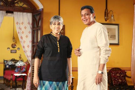 Ratna Pathak Shah and Mithun Chakraborty in Golmaal Returns