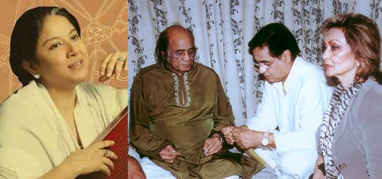 Zila Khan, Mehdi Hassan with Jagjit and Chitra Singh