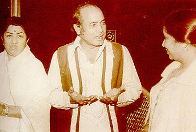 Lata Mangeshkar, Mehdi Hassan and Asha Bhosle