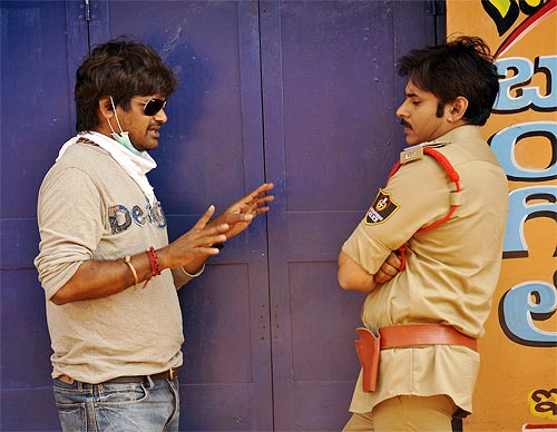 Director Harish Shankar S with Pawan kalyan