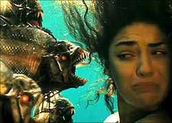 A scene from Piranha 3DD
