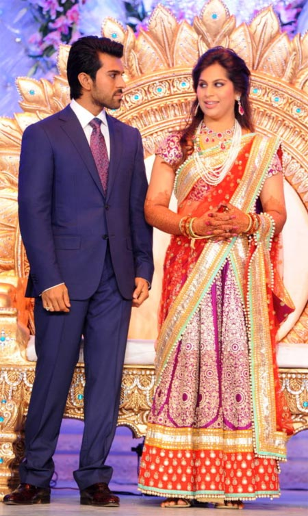 The Newly wed couple Ram Charan Teja and Upasana Kamineni