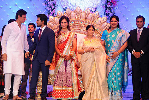Rahul Dev, Ram Charan and Upasana, Surekha, Shobhana and Anil Kamineni
