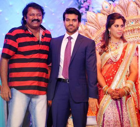 G V Sudhakar Naidu, Ram Charan and Upasana
