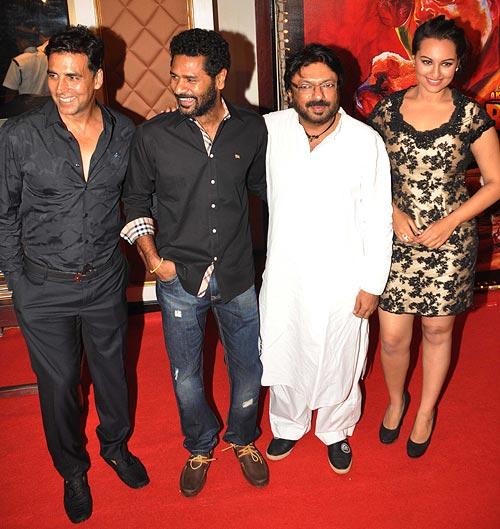 Akshay Kumar, Prabhu Deva, Sanjay Leela Bhansali and Sonakshi Sinha