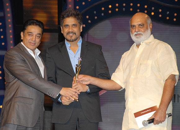 Kamal Haasan, Nagarjuna and K Raghavendra Rao