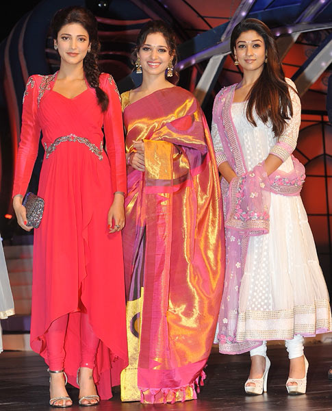Shruti Haasan, Tamannaah and Nayathara