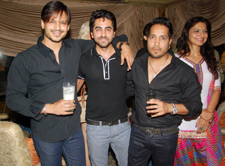 Vivek Oberoi, Ayushman Khurana and Mika Singh