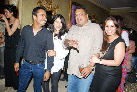 Mushtaq Shaikh, Ekta Kapoor, Sanjay Gupta and Kiran Bawa