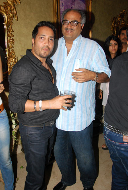 Boney Kapoor and Mika Singh