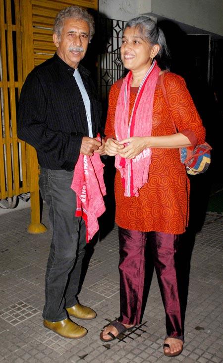 Naseeruddin Shah and Ratna Pathak Shah