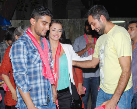 Prateik, Amy Jackson and Abhay Deol