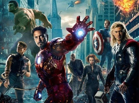 The Avengers: The Hulk, Hawkeye, Iron Man, Nick Fur, Black Widow, Thor and Captain America