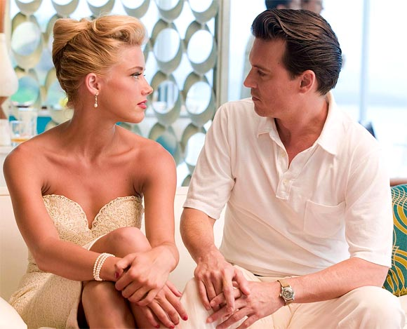 Amber Heard and Johnny Depp in The Rum Diary