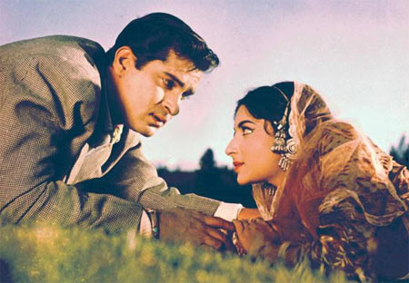 Shammi Kapoor and Sharmila Tagore in Kashmir Ki Kali